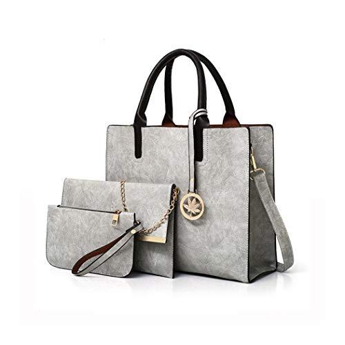 Coofit borsa Set per la borsa Messenger in pelle Donna 3 Pezzi Pu Borse borsa