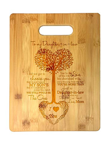 To My Daughter-in-Law Tree Heart Rainbow Sweet Sayings Mother