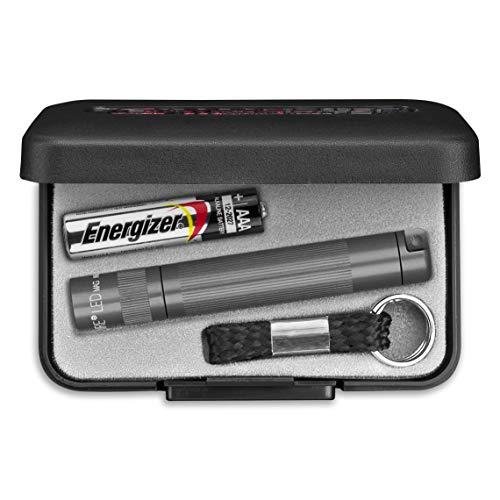MagLite SJ3A092U Solitaire LED Taschenlampen mit Alkaline Batterie im Etui, 1,3 cm Kopfdurchmesser, 8 cm Länge, Grau