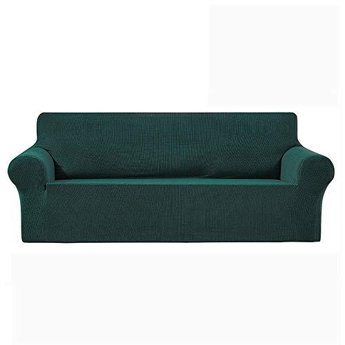 N/AO Funda de sofá Sala de Estar, Funda de sofá seccional, Funda elástica, Funda de sofá, elástica, 1/2/3/4 plazas-Verde Oscuro_SG