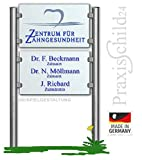 Praxisschild/Firmenschild 2teilg - Schildanlage aus Edelstahl & Plexiglas