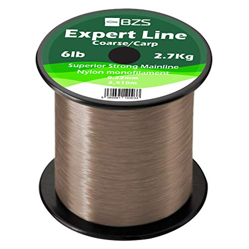 Expert Carp fishing Line 10lb 4.5Kg 1,296m, Brown monofiliment line (4lb 1.8Kg / 3,273m, Brown Monofiliment line)
