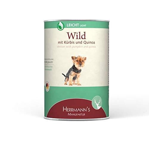 Herrmanns Dog Light Wild, Kürbis, Quinoa, Früchte & Eierschalenpulver 400g (Menge: 12 Je Bestelleinheit)