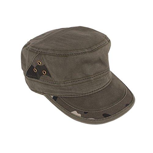Unisex Vintage Schirmmütze Army Khaki Military Cap Mütze Canvas Baseball Kappe