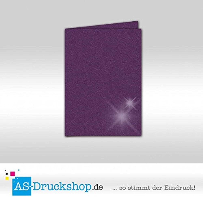 Faltkarte Doppelkarte - Amethyst - mit glänzenden Partikeln 50 Stück DIN B6 B0794XS824   | Online Outlet Shop