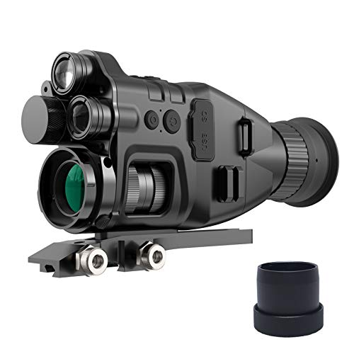 Digital Night Vision Scope, Dual Infrared Monocular for Nightfall Total Darkness, 940nm and 850nm for Outdoor Day & Night Hunting, Large Screen & 300ft Viewing Range