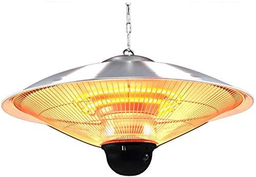 Calentador de patio eléctrico Calentador de luz eléctrica, potencia ajustable 2200 W / 2500 W Montaje colgante en el techo, montado en el techo, uso en interiores o exteriores con calentador de contro