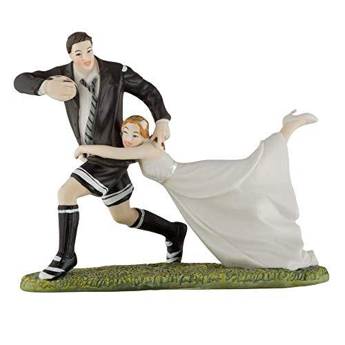 Tortenfigur Love Tackle Rugby Tortendeko Tortenaufsatz Hochzeit