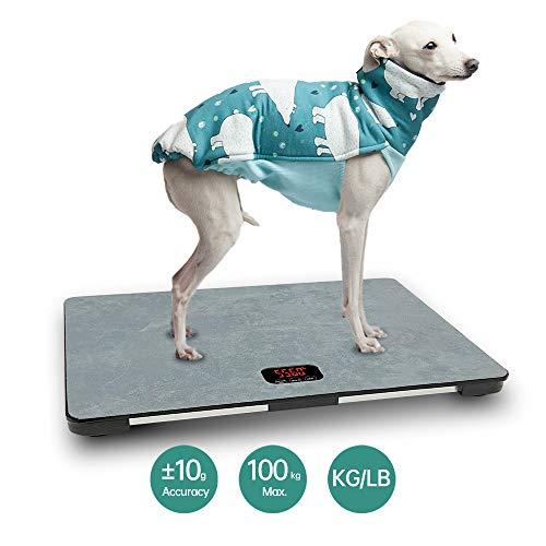 iBaby-Fish Grote digitale weegschaal voor grote honden, capaciteit 100 kg (± 10 g), touchscreen, KG/LB/LB: OZ inschakelbaar, 65 cm