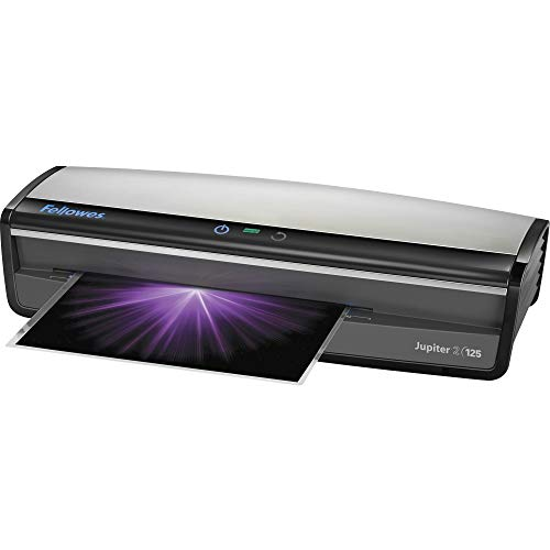 Fellowes Jupiter 2 125 Laminator with 10 Pouches, 12.5 Inch (5734101), Black & Grey