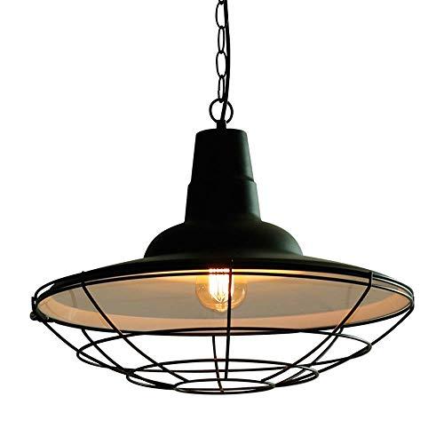 WSXXN Fil de métal de la grange nautique industrielle suspendue au plafond de luminaire suspendu, couvercle de pot en fer forgé, suspension industrielle