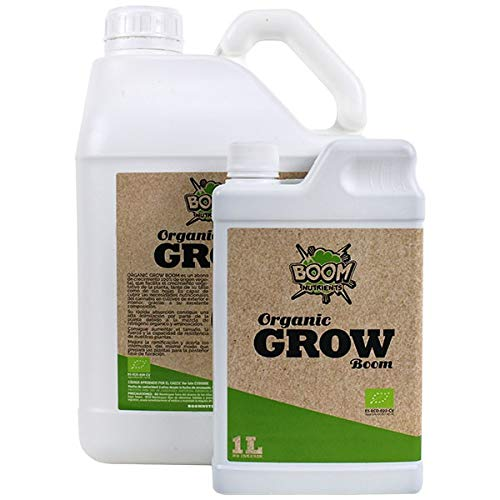 Boom Nutrients | Abono orgánico para Crecimiento/Fertilizante Natural/Abono para Plantas | Organic Grow (1L)