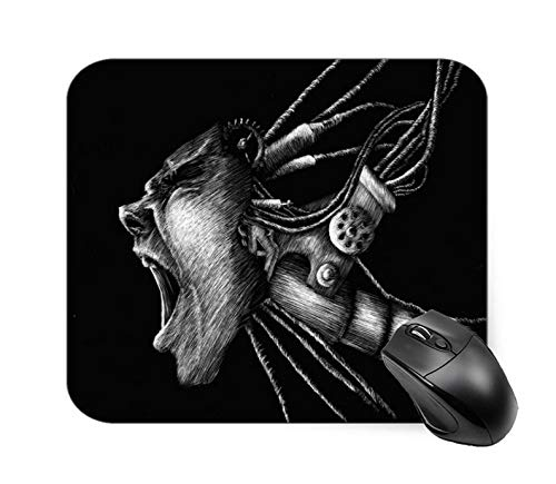 Scratch Board Monster People Face Mouse Pad 7.1 X 8.7 in