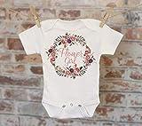 Flower Girl Wreath Onesie®, Wedding Onesie, Bridal Shower Gift, Boho Baby Onesie, Rustic Onesie, Flower Girl Onesie