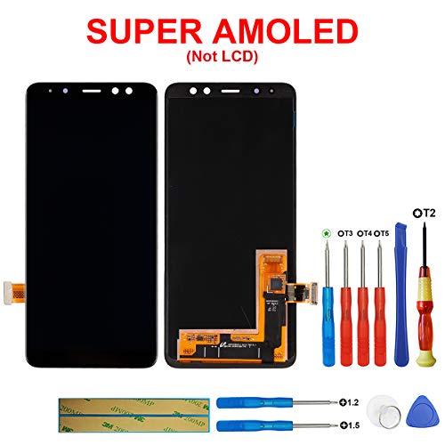 swark Super AMOLED-scherm compatibel met Samsung Galaxy A8 (2018) SM-A530F, SM-A530K, SM-A530L, SM-A530S, SM-A530N, SM-A530W zwart (zonder frame) LCD-display touchscreen + tools