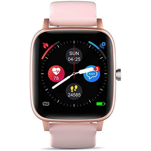 HJKPM 1.4 Pulgadas Smartwatch, Pantalla De Color Completo De Color Completo Reloj Inteligente Bluetooth para La Frecuencia Cardíaca ECG Sangre Oxygen Detection Support Multi Lenguaje,Rosado