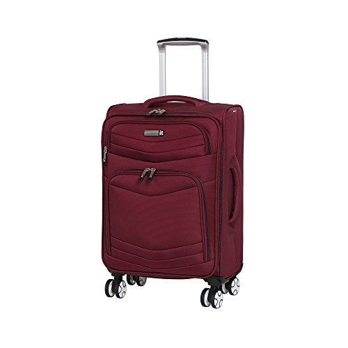 it luggage Intrepid 8 Wheel Lightweight Semi Expander Cabin Suitcase, 56 cm, 47 L, Dark Red