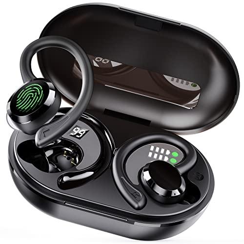 Auriculares Inalámbricos, Auriculares Bluetooth 5.1 Hi-Fi Estéreo, Auriculares Inalambricos Bluetooth con Microfono Cascos Deportivos IP7 Impermeable, CVC8.0 Cancelación de Ruido Auriculares Running