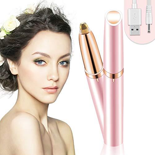 Eléctrica Depiladora Cejas,Ceja Recortador Flawless,Eyebrows Trimmer Mujer Depiladora Facial Para,Depilacion de Cejas Carga USB(Rosa)
