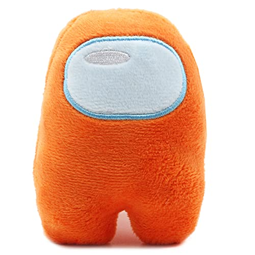 Peluches Among Us, Plush Crewmate Among Us Matanza de Hombre Lobo Espacial, muñeco de Personaje del Juego - 10 cm (Naranja)