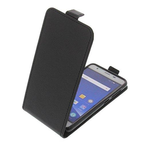 foto-kontor Tasche für Mobistel Cynus F9 Smartphone Flipstyle Schutz Hülle schwarz