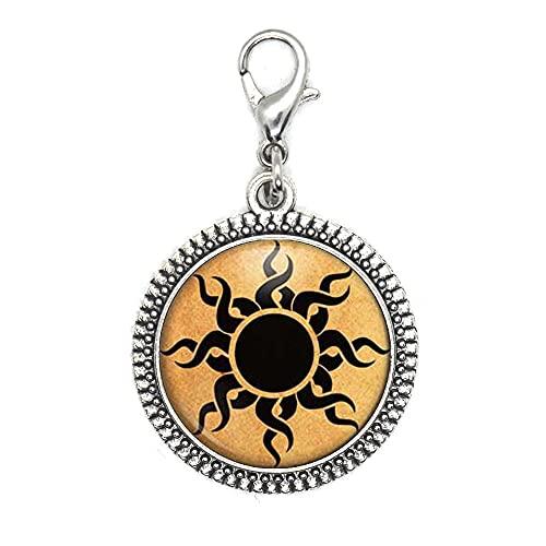 Cierre de langosta celta para astrología, joyería de astronomía, cierre de cremallera para uso diario, cierre de langosta de cristal artístico, regalo de cumpleaños para dama de honor JV228