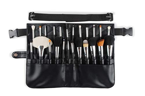 Rio Beauty Professional Make-up borstel set en gereedschap riem