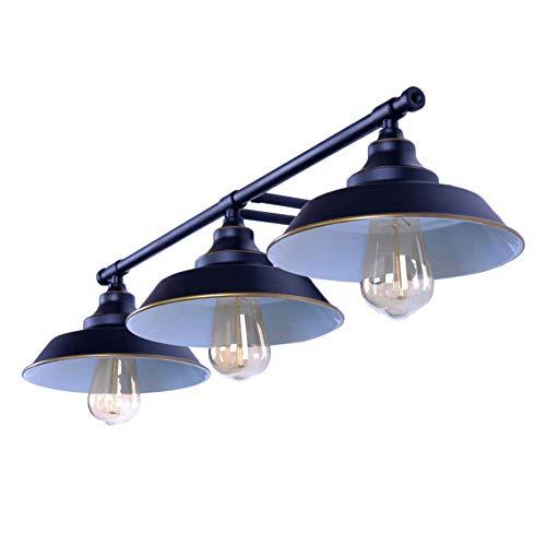 Aplique de Baño LED E27 Lámpara de Pared Antigua Vintage, Baños Luces del Espejo 3 Luminarias Montaje en la Pared Luz de Pared de la Iluminación para Salón/Dormitorio/Estudio/Cocina/Cuarto de Baño,B