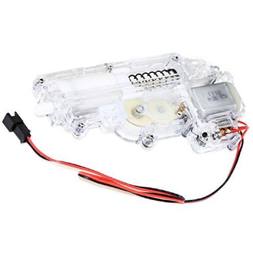 Airsoft Softair Ersatzteile CYMA Transparent Mini Full Getriebe Gearbox mit Motor für Uzi Serie AEG