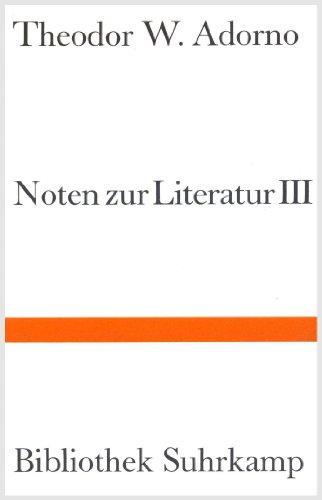 Noten zur Literatur III.