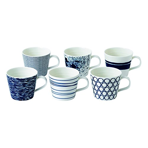 Pacific by Royal Doulton Pacific von Royal Doulton Kleiner Becher Set von 6-New, Porzellan, Blau, 11,8 x 9.1 x 7,6 cm, 11.8 x 9.1 x 7.6 cm, 6