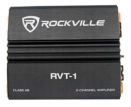 Rockville RVT-1 1000w Peak/250w CEA RMS 2 Channel Car Amplifier Stereo Amp