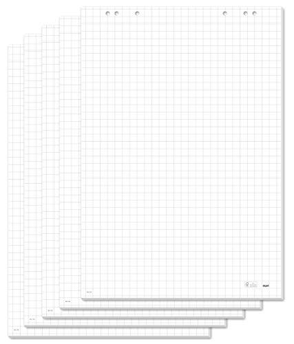 5 Blöcke blanko  20 Blatt 69x99 cm 6er Set Flipchartmarker Flipchartblöcke