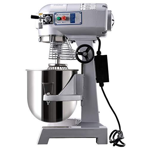 Z ZELUS Teigknetmaschine 600W Küchenmaschine 3 Geschwindigkeiten Knetmaschine Teigmaschine 15 Liter Kapazität Edelstahl-Rührschüsselät Rührmaschine (15 L)