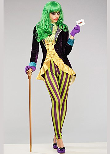 Disfraz de Joker Style para Mujer Deluxe XS (UK6-8)