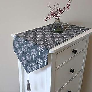 Bestenrose Chemin de Table/Nappe, décoration de 2 Pages en Coton Lin, Linge de Table Classique pour Salle à Manger, fête, ...