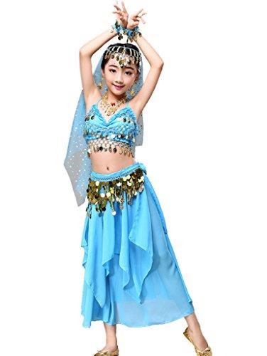 Astage Vestito Elegante Bambina per Danza del Ventre Indiana Halloween Carnevale Bambino