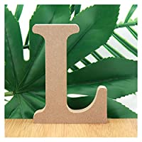 XIZHOUCUN 1ピース10センチの木の文字のアルファベット英語の名前デザインアート工芸品のDIYの単語のパーティーの結婚式の家の装飾3.94インチ 装飾 (Color : L)
