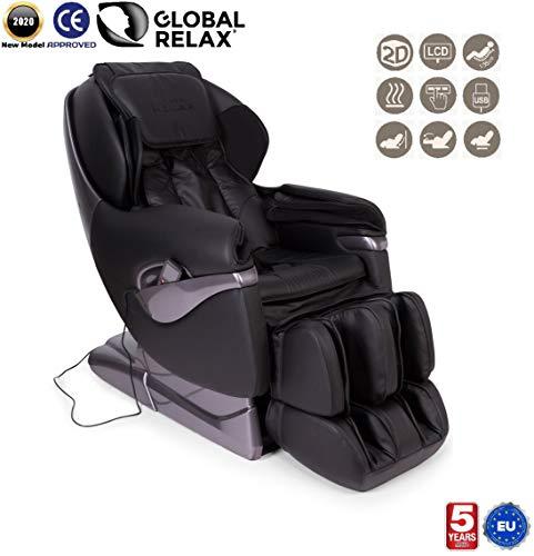 SAMSARA® 2D Massagestoel - Zwart (model 2019) - Elektrische ontspanningsbank met shiatsu - Pressotherapie stoel, nul zwaartekracht, warmte en USB - 5 Jaar Garantie