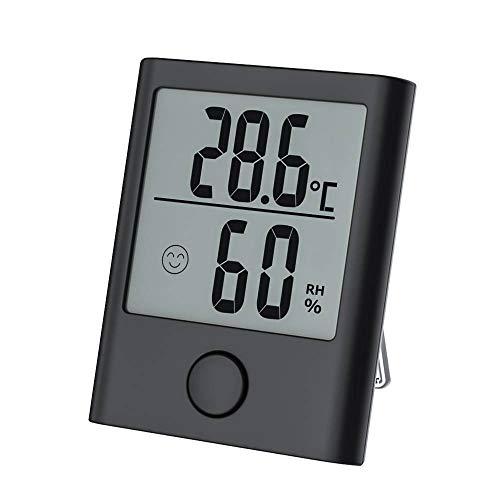 Mini Hygrometer Thermometer, Digital Temperaturmonitor und Luftfeuchtigkeitsmesser mit LCD Display/Komfortanzeigen, Genaue Ablesungen für Haus, Büro, Gewächshaus