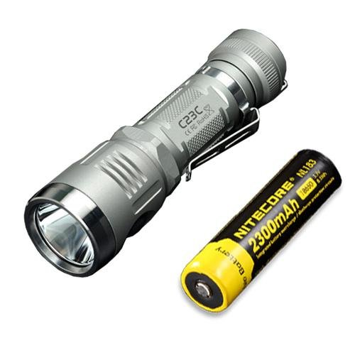 Bundle: Sunwayman C23C Flashlight w/ NL183 Battery -Available in Grey or Black