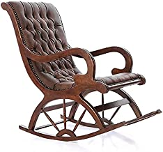 Art Home Upholstered Rocking Chair , Brown
