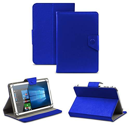 NAUC Robuste Tablet Schutzhülle für Captiva Pad 10 3G aus Kunstleder Tasche Hülle Standfunktion Cover Hülle Universal, Farben:Blau