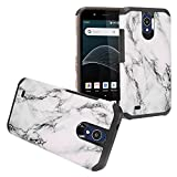 Z-GEN - AT&T Axia, Cricket Vision, QS5509A - Hybrid Image Hard Case - AD1 White Marble