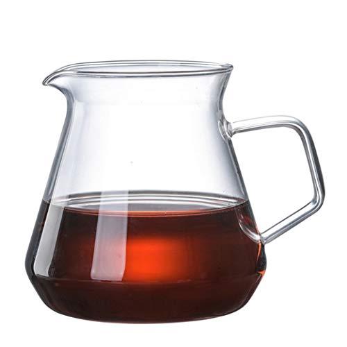 Jarra de agua de cristal con asa, jarra de té de cristal, jarra, tetera y jarra para café, zumo, agua helada y té de flores adecuado para tu nevera y cafetera (20 oz) (tamaño: 600 ml)