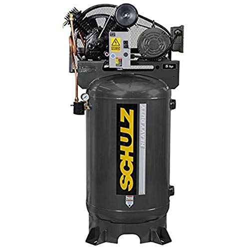 Schulz of America 932.9340-0 V Series Air Compressor, Two Stage 175 psi, 580VV20X-3 5.0 hp, MSV-20MAX, 2P Electric Motor, Three Phase, Vertical Tank