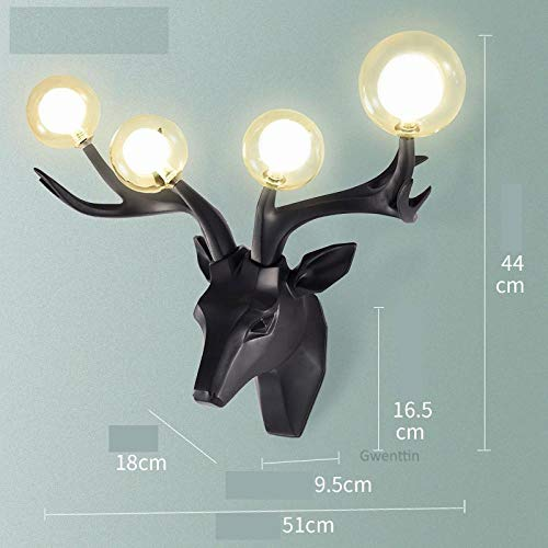 Wandlamp modern hars Antlers LED-wandlamp hert glas wandlampen voor interieur woonkamer slaapkamer spiegel verlichting