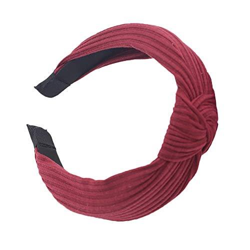 LILIHOT Frauen Mode Stirnband Twist Haarband Bogen Knoten Kreuz Krawatte Headwrap Haarband Hoop Stirnband Damen elastische Haarband Kopfband Weich Turban Stirnband für Alltag Yoga Sport Fitness