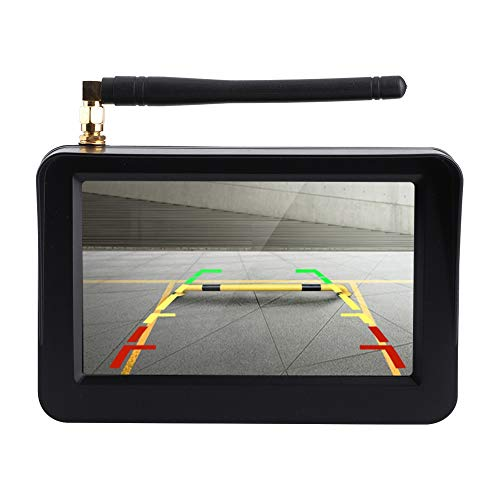Esenlong Negro del Sistema del Estacionamiento de La Leva de La Vista Posterior del Monitor LCD HD de La Cámara de Respaldo Inalámbrica del Coche de 5 Pulgadas