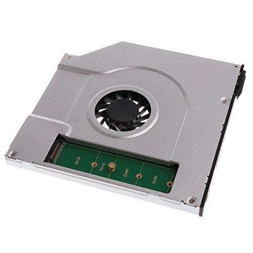 B Blesiya Ventilador de Refrigeración Interno para Computadora Portátil de 1 Pieza M.2 NGFF SSD Caddy Adaptador Unidad SATA de 9,5 Mm